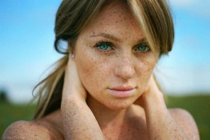 amateur photo Freckled and beautiful