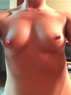 amateur photo Always hard nipples.