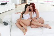 Sensual lesbian lovemaking by Shona River and Sasha Rose