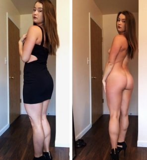 amateur photo Tight Black Dress