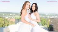 Sensual lesbian lovemaking by Jenny Saphire and Lulu Love