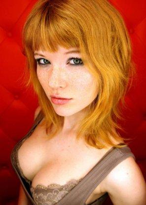 amateur photo Ginger bangs