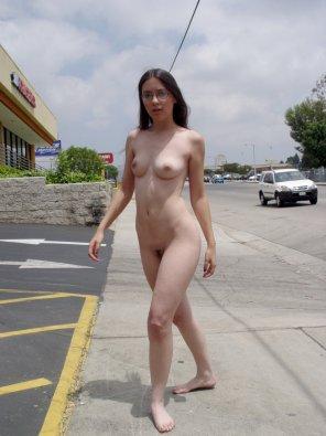 amateur photo on the sidewalk