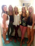 amateur photo Sexy girls travel in packs