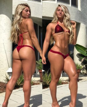 amateur photo Carriejune Bowlby in Red