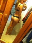 amateur photo Matching black bra and panties.