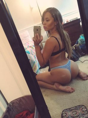 amateur photo little blue thong