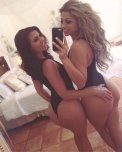 amateur photo Selfie with her bestie