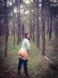 amateur photo Mooning in the woods