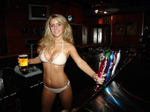 amateur photo Hot bartender