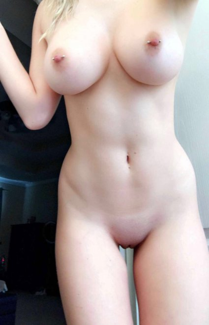 Pale and pierced Porn Photo