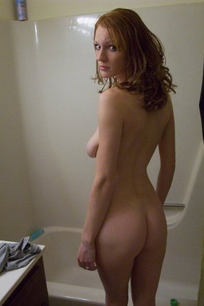 amateur photo about to shower