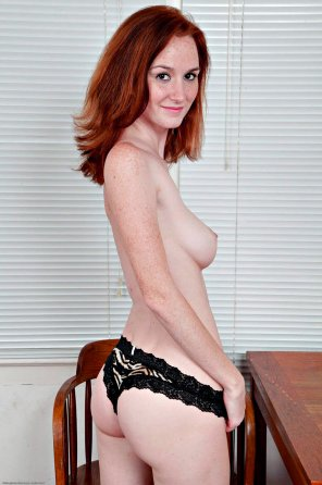 amateur photo Freckled Pale Redhead