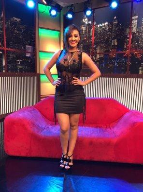 amateur photo Srita. Pitazo - Black miniskirt + see through top