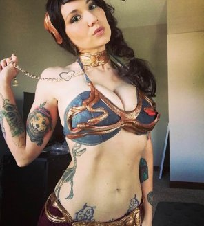 amateur photo Slave Leia