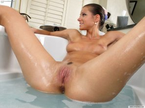 amateur photo in the bath