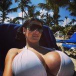 amateur photo White Bikini Top