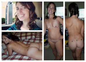 amateur photo Average milf triple smiles & tramp stamps