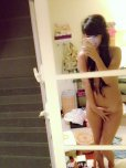 amateur photo Asian tries to take a nude selfie but too embarrassed
