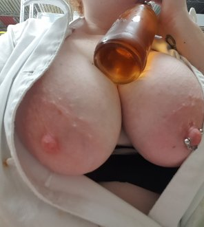 amateur photo Best way to cool down after a long hard lunch service? A [f]rosty beer, duh!