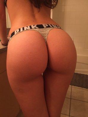 amateur photo Bathroom Butt