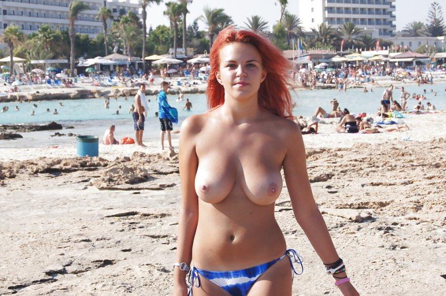 Lone beachgoer Porn Photo
