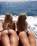 amateur photo Butts on a boat