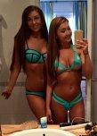 amateur photo Green bikinis