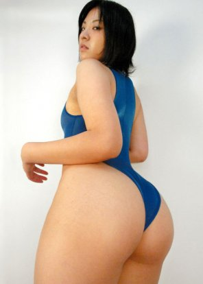 amateur photo Blue swimsuit