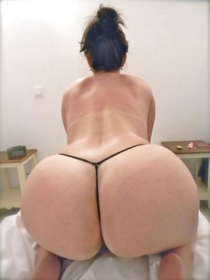 amateur photo Black Thong