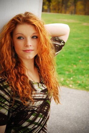 amateur photo Carefree days of summer with a curly redhead