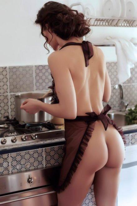 Preparing a meal. Porn Photo