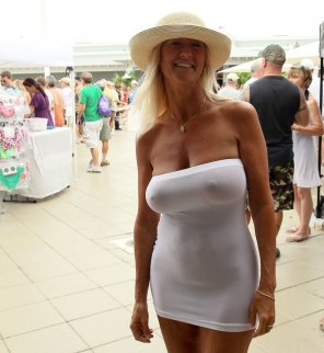 amateur photo Busty blonde MILF seethru