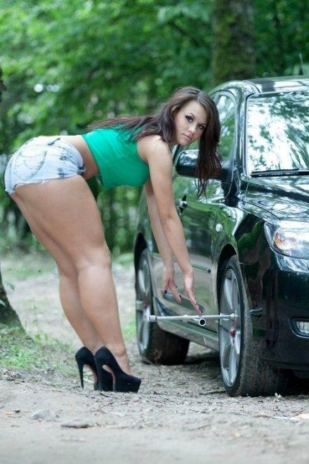 Tire change Porn Photo
