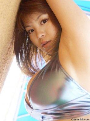 amateur photo Yoko Matsugane in silver