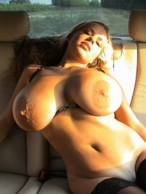 amateur photo In the back seat