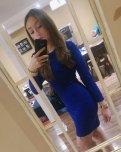 amateur photo Little blue dress