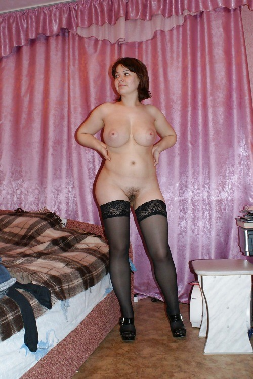Curvy milf stockings