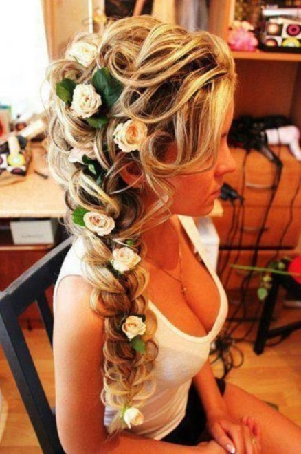 Flowery hair Porn Photo
