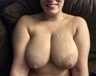 [27F] I love when he cums on my tits :)