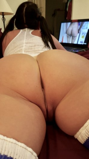 amateur photo Such a beautiful bottom.