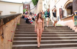 amateur photo Nude in the streets