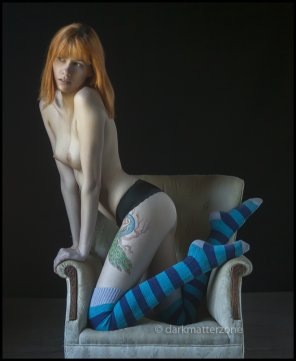 amateur photo Kneeling in a chair