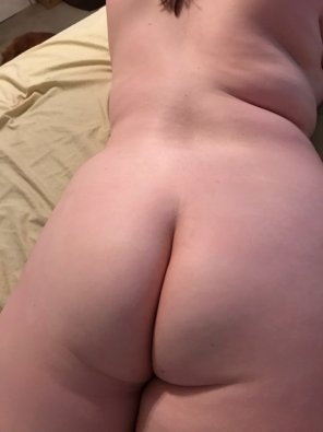 amateur photo My butt isn't nearly as big as my boobs, but hopefully you still think it's cute!