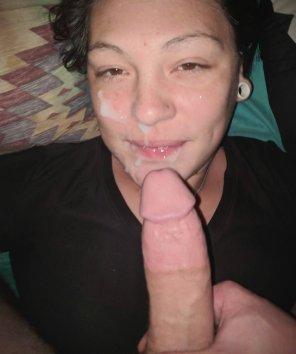 amateur photo She loves her cum!