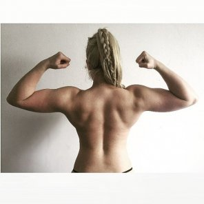 amateur photo Nice back muscles