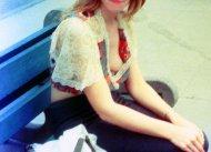 MILF braless in open blouse