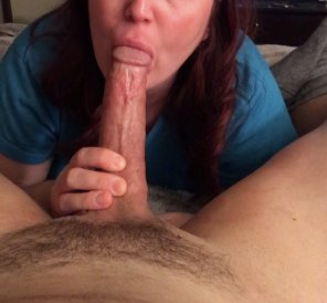 amateur photo Do I Look Good With A Cock In My Mouth? [MF]