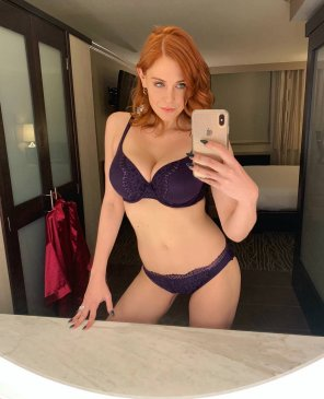 amateur photo Maitland Ward in purple bikini