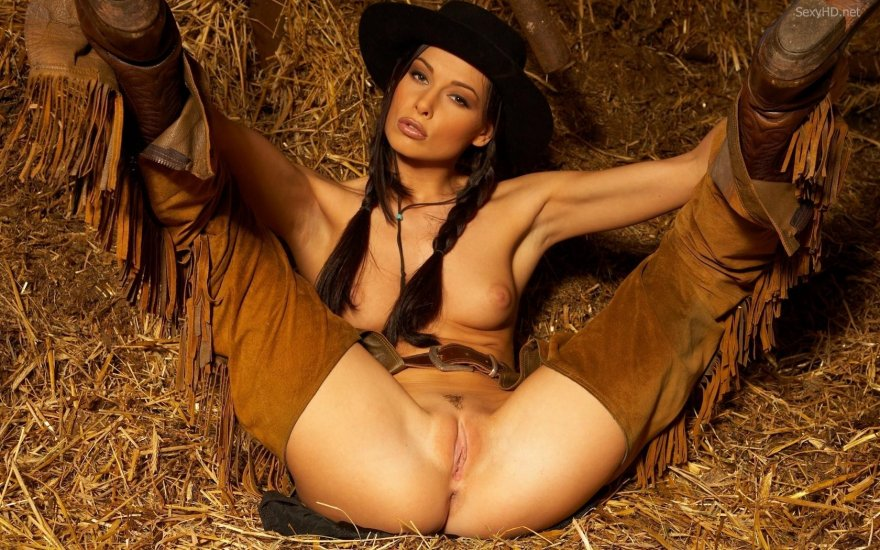 There's just something about a lady in chaps and a stetson. Porn Photo